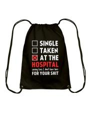 Single taken at the hospital Drawstring Bag thumbnail