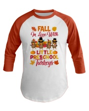 Preschool Teacher Baseball Tee front