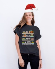 Read a Book Classic T-Shirt lifestyle-holiday-crewneck-front-1