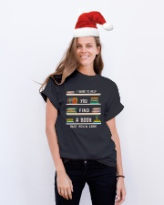 Librarian Classic T-Shirt lifestyle-holiday-crewneck-front-1