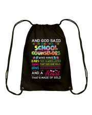 Great Shirt for School Counselors Drawstring Bag thumbnail