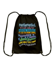 Great Shirt for math teachers Drawstring Bag thumbnail