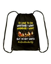 Great Shirt for Retired Teachers Drawstring Bag thumbnail