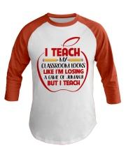 Teacher Baseball Tee front