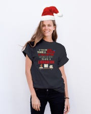 National Library Workers' Day Classic T-Shirt lifestyle-holiday-crewneck-front-1