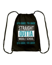 Straight outta middle school Drawstring Bag thumbnail