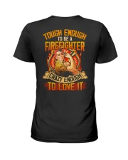 Firefighter Ladies T-Shirt back