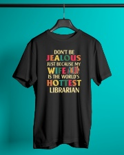 librarian's husband Classic T-Shirt lifestyle-mens-crewneck-front-3