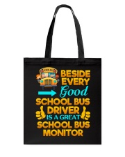School Bus Monitor Tote Bag thumbnail
