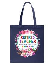 Retired Teacher Tote Bag front