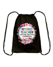 Retired Teacher Drawstring Bag thumbnail