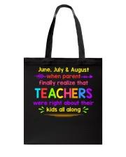 Teacher's best T-Shirt Tote Bag thumbnail