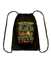 Great Shirt for Book Lovers Drawstring Bag thumbnail