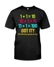 Great Shirt for math teachers Classic T-Shirt front