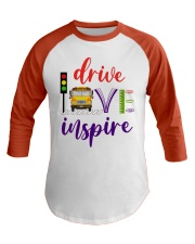 School Bus Driver Baseball Tee front