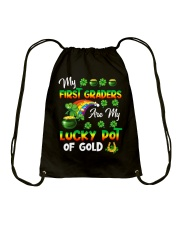 Great Shirt for First Grade Teachers Drawstring Bag thumbnail