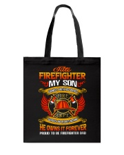Title-Firefighter Tote Bag thumbnail