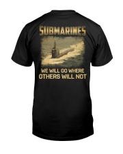 Navy Submarine Service Classic T-Shirt back