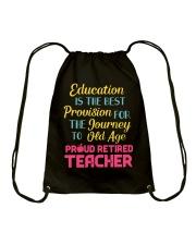 Great Shirt for Retired Teachers Drawstring Bag thumbnail