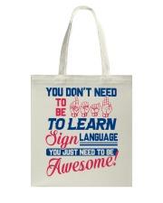Sign Language Teachers Tote Bag thumbnail