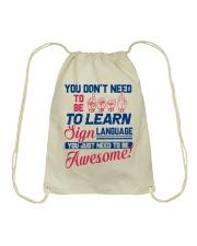 Sign Language Teachers Drawstring Bag thumbnail