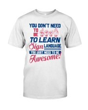 Sign Language Teachers Classic T-Shirt thumbnail