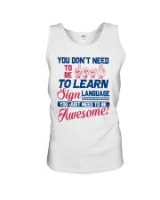 Sign Language Teachers Unisex Tank thumbnail