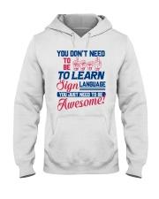 Sign Language Teachers Hooded Sweatshirt thumbnail