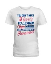 Sign Language Teachers Ladies T-Shirt front