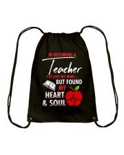 A teacher's great friend Drawstring Bag thumbnail