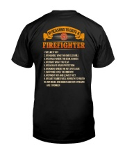 Firefighter Classic T-Shirt back