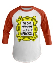 Preschool Teachers Baseball Tee front