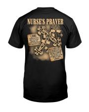 Nurses Prayer Classic T-Shirt back