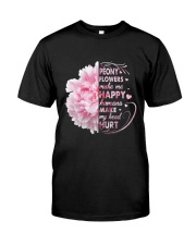 Peony Make Me Happy Classic T-Shirt front