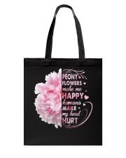 Peony Make Me Happy Tote Bag thumbnail