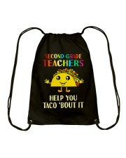 Great Shirt for 2nd Teachers Drawstring Bag thumbnail