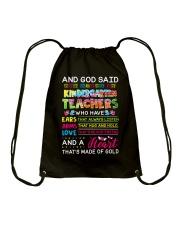 Great Shirt for Kindergarten Teachers Drawstring Bag thumbnail