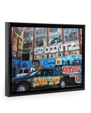 5 Pointz Graffiti 14x11 Black Floating Framed Canvas Prints thumbnail