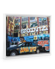 5 Pointz Graffiti 14x11 White Floating Framed Canvas Prints thumbnail