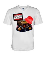 Fullblast Radio New Version Logo V-Neck T-Shirt thumbnail