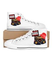 Fullblast Radio New Version Logo Men's High Top White Shoes thumbnail