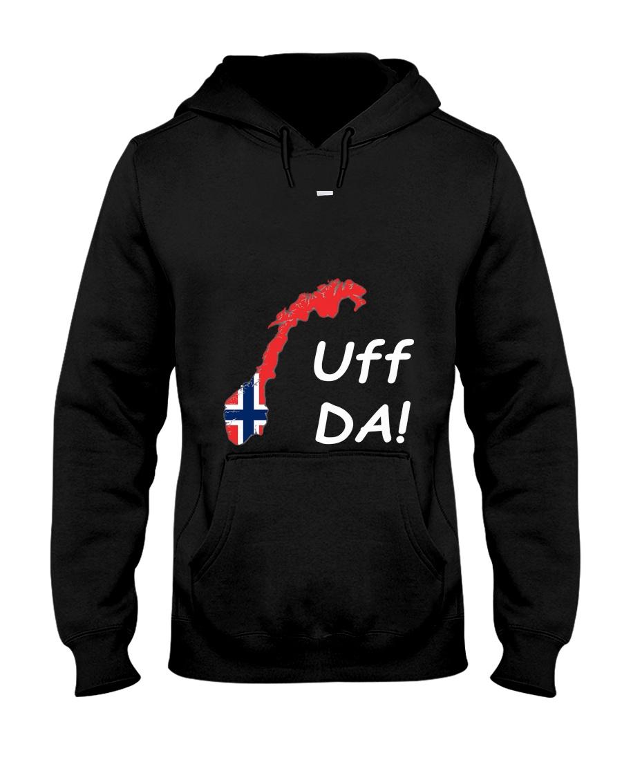 Fun Norwegian Uff Da T Shirt For Women Men Youth Hooded Sweatshirt