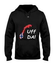 Fun Norwegian Uff Da T Shirt For Women Men Youth Hooded Sweatshirt front