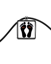 pieds noirs  Cord Rectangle Necklace thumbnail