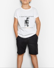 A HUNTING PARTNER WHO NEVER BREAKS PLANS Youth T-Shirt lifestyle-youth-tshirt-front-1