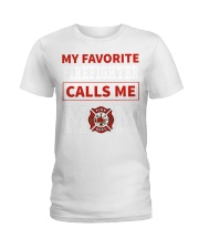 Firefighter Mom Ladies T-Shirt thumbnail