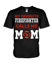 Firefighter Mom V-Neck T-Shirt thumbnail