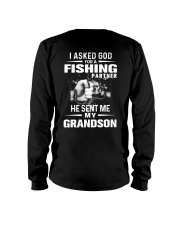 THE LEGEND FISHING WITH GRANDSON Long Sleeve Tee thumbnail