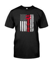 Usa sewing flag Classic T-Shirt front