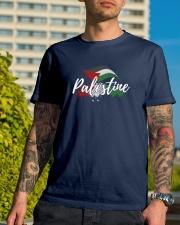 Palestine Flag Shirt Design Classic T-Shirt lifestyle-mens-crewneck-front-8